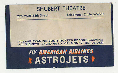 American Airlines   Shubert Theatre Ticket Envelope