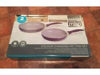 MHP Colour changing frying pan set - purple