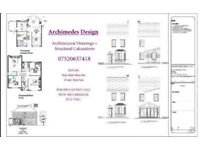 Architectural Drawings & Caluclations for Loft Conversion, Rear Extension, And Flat Conversions. etc