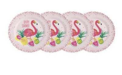 Tropical Plates (Flamingo Tropical Melamine Dinner Plates 10.5