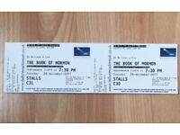 2 tickets to Book of Mormon in London on Boxing Day - 3rd row from the stage!