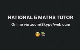 Nat 5 maths tutor homework help study
