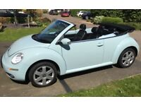 Volkswagen Beetle, 2006 (06) blue convertible, Manual Petrol, 54,600 miles