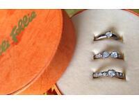 Folli Follie Silver stacker ring set