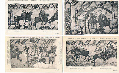 BAYEUX TAPESTRY WILLIAM THE CONQUEROR 75 POSTCARDS COMPLETE SET C1900'S HASTINGS