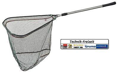 DAM Hammerkopf Kescher 3,00m Klappkescher Unterfangkescher m gummiertem Netz