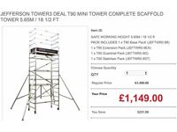 JEFFERSON TOWER3 DEAL T90 MINI TOWER COMPLETE SCAFFOLD TOWER 5.65M / 18 1/2 FT