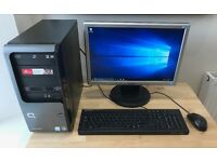 Compaq SR5000 Desktop + LCD Monitor Windows 10