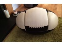 Kids rugby ball chair and footstool