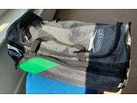 Cricket bag, pads, gloves and helmet