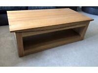 Oak Furniture Land Natural Solid Oak Coffee Table