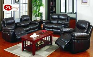 3 Pcs.RECLINER SOFA  SET ( SOFA + LOVE SEAT+ CHAIR) FOR $1049!!! CALL 416-743-7700