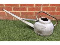 Vintage galvanised long spout 10 pint watering can
