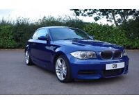 BMW 135i Coupe LeMans Blue FBMWSH, Fresh MOT. Great condition with massive specification!