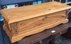 Carved pine box