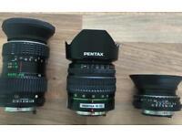 Pentax camera lenses