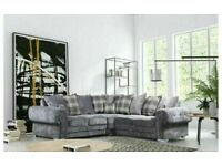 ✨Sit With Luxury⭐️🌟verona corner - 3 and 2 seater sofa set in grey color-