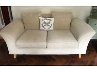 Beige sofa couch 1+2 seater