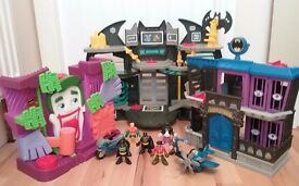 IMAGINEXT BATMAN PLAYSETS BATCAVE JOKER FUNHOUSE JAIL FIGURES