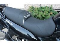 Suzuki GSXF Custom Seat With Gel insterts, A custom shaped seat with none slip soft covering
