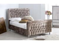 Crushed-Velvet-Beds-Upholster-Double 4FT6