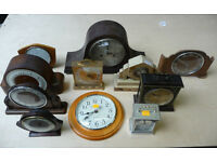 Job lot of vintage clocks