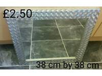 Silver framed square mirror only £2.50