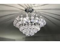 Chrome & Jewel effect 3 bulb ceiling light