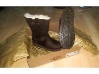 Genuine Dark brown UGG boots