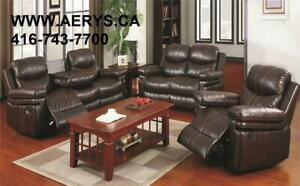 Free Gift on sofa purchases !Wholesale Furniture !!SECTIONAL,RECLINER,SOFA ON HUGE SALE!! CALL 416-743-7700,WWW.AERYS.CA