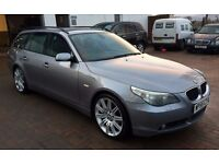"IMMACULATE 2005 BMW 525 SE ( sport ) estate auto 115k, Gunmetal grey, 19""sport alloys grey Lthr nav"