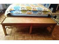 SOLID WOOD BENCH beautiful former window seat