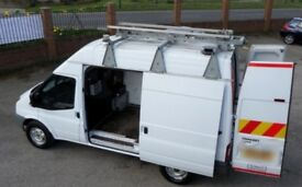 Heavy duty roof rack/ladder rack for Transit high top.