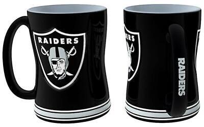 Oakland Raiders 15oz Sculpted Relief Coffee Mug [NEW] NFL Tea Cup Hot Ceramic