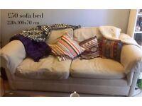 Comfy cream sofa bed