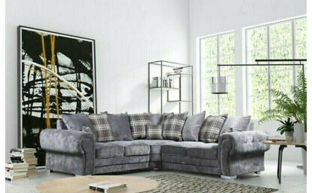Remarkable Amazing Offerverona Crush Velvet Corner Seater Left Right Both Hand Sofa Set In Canvey Island Essex Gumtree Gmtry Best Dining Table And Chair Ideas Images Gmtryco