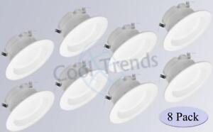 "8 packages of LED Retrofit Downlight 110-130V   4"" 10W 700Lm 5000K CRI80 Dimmable"