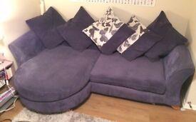 4 Seater Fabric DFS Sofa - Purple