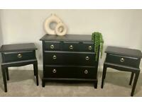 Stag Minstrel Set - 5 Drawer Chest & Pair of Bedside Tables