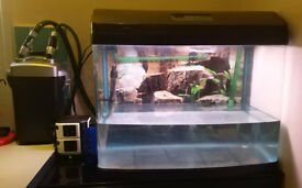 2ft Full setup fish tank clean and ready to use