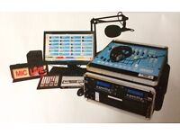 Portable broadcast radio studio
