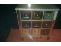DESIGNER MIRROR FRONTED CHEST OF DRAWERS