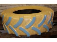 Large painted Tyre ideal for childrens Sand pit.