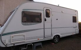 Abbey Vogue 415 GTS 2004 4 Berth Caravan for sale complete with Awning Very Good Condition