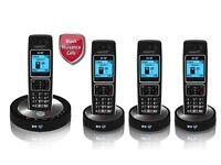 BT 6510 Cordless Telephone with Answer Machine - Quad