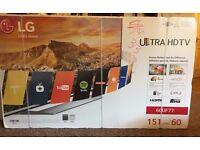 Brand new in box!! Bargain!! LG 60UF770V 60 Inch Ultra HD LED TV