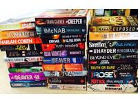 Paperback collection - mainly crime thrillers. 31 books as a bargain job-lot!