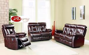 Furniture Warehouse - Genuine Leather and High Quality Fabric Recliners, Sectionals, Couch Avail. in Multiple Colours!