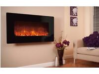 Celsi Electriflame XD Black Glass 1100 Electric Wall Mounted Fire RRP £519