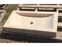 Travertine stone sink
